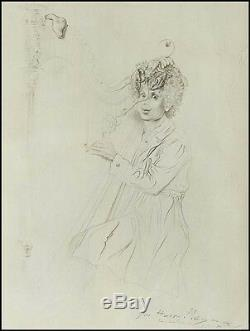 Salvador DALI (Artist) Portrait Print inscribed to Harpo Marx