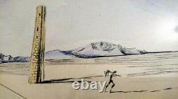 Salvador Dali Cavalier cosmique Original Radierung und Kunstwerk von 1982