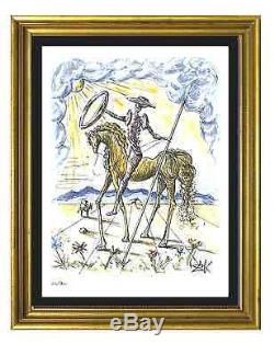 Salvador Dali Signed & Hand-Numbered Ltd Ed Don Quixote Litho Print (unframed)