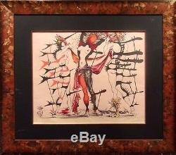 Salvador Dali Tristan Fou Costumes HAND SIGNED AUTHENTIC ART LITHOGRAPH Framed