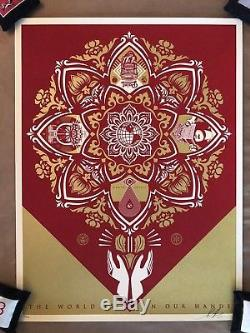 Shepard Fairey 2015 HOLIDAY (RED/GOLD Edition) Edition 425
