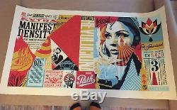 Shepard Fairey Damaged Wrong Path Mural large format signed limited edition /75