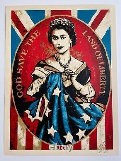 Shepard Fairey Obey Giant God Save the Queen AP RARE 2012 Neil Young Americana