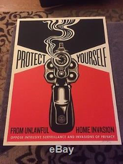 Shepard Fairey Obey Giant Home Invasion 2 2014 signed 18x24 edition of 300 mint