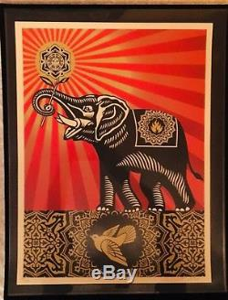 Shepard Fairey Obey Giant PEACE ELEPHANT Signed Numbered Screen Print banksy