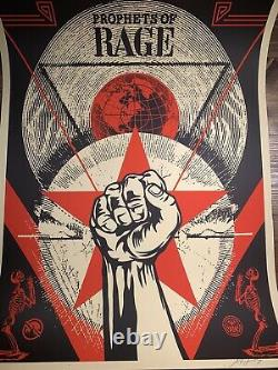 Shepard Fairey Obey Giant Prophets Of Rage Art Print Poster Signed XX/600 2017