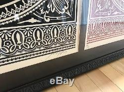 Shepard Fairey Obey Presidential Seal Limited Edition Signed Matching Pair 2007