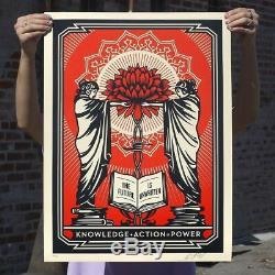 Shepard Fairey Screen Print Knowledge + Action = Power Signed Obey Giant Poster