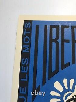 Shepard Fairey Signed Marianne Liberte Egalite Fraternite Print Obama Hope Obey