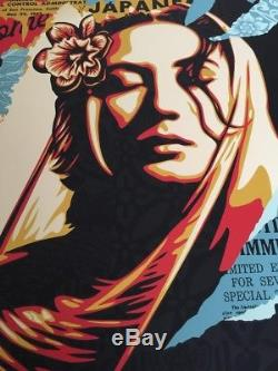 Shepard Fairey Welcome Visitor Large Format Signed Numbered Screen Print OBEY