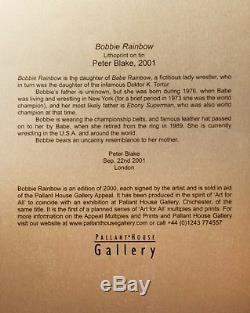 Sir Peter Blake Bobbie Rainbow Lithoprint on Tin