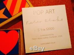 Sir Peter Blake Boxed Set of 4 Enamel Badges Signed Limited Edition