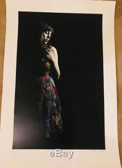 Snik and Martin Whatson Collab girl with the red dress Unique 1/1 print