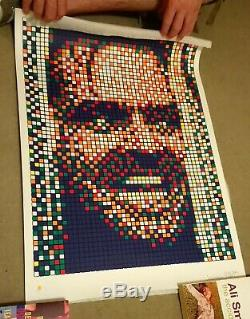 Space Invader Rubik Kubrick 2'Jack' Signed Print (POW)