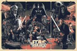 Star Wars VARIANT Ltd Edition x/225 by Gabz Screen Print Poster Art MINT Mondo