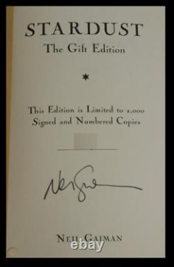 Stardust SIGNED by NEIL GAIMAN Sealed Limited 1st Edition Print Hardback 1/2000