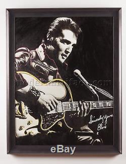 Steve Kaufman Original Oil Painting of Elvis Rock Music Art Documented