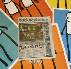 Stik Holding Hands Poster Hackney Today Newspapers FULL SET UNSIGNED