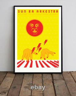 Sun Ra Arkestra A1 Screen Print by Niklaus Troxler Hand signed & numbered Poster