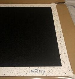 Takashi Murakami BLM Black Flowers and Skulls Square Print Limited Edition #170