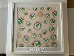 Takashi Murakami'Jellyfish Eyes Cream Framed. Signed. Limited Edition. Ltd