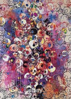 Takashi Murakami Pom I've Left My Love Far Behind Print Signed Flower Skull dob