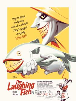 The Laughing Fish Batman BTAS PCC Poster Print Mondo Joker Phantom City Creative