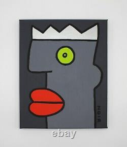 Thierry Noir original canvas head painting