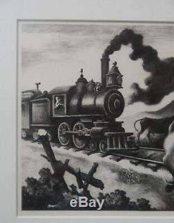 Thomas Hart Benton Slow Train Through Arkansas 1941 lithograph
