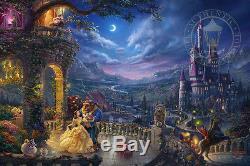 Thomas Kinkade Beauty and the Beast Dancing 12 x 18 S/N LE Paper Disney