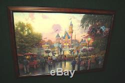 Thomas Kinkade Disneyland 50th Anniversary 24x36 SN Burl CC