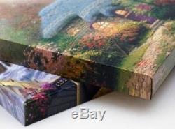 Thomas Kinkade Hometown Christmas Memories 16 x 31 Wrapped Canvas