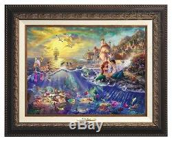 Thomas Kinkade Little Mermaid Canvas Classic (Aged Frame)