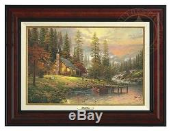 Thomas Kinkade Peaceful Retreat 12 x 18 Canvas Classic (Burl Frame)