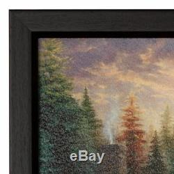 Thomas Kinkade Studios A Fathers Perfect Day Framed 16 x 20 Textured Print