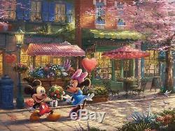Thomas Kinkade Studios Mickey Mouse Set of 7 Sweetheart Valentine's Art Prints