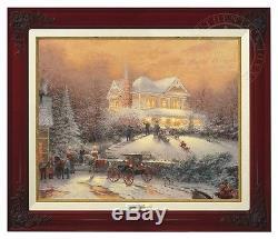 Thomas Kinkade Victorian Christmas II Canvas Classic (Brandy Frame)