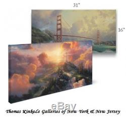 Thomas Kinkade Wrap Valley of Peace 16 x 31 Gallery Wrapped Canvas
