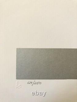 Thomas W. Benton 1979 Signed/Numbered Serigraph Geometric Abstract Print MCM Art