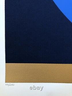 Thomas W. Benton 1981 Signed/Numbered Serigraph Geometric Abstract Print MCM Art