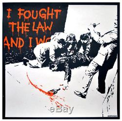 Two Banksy Serigraphs 1 PRICE I Fought the Law & Sale Ends PEST CONTROL CERTS