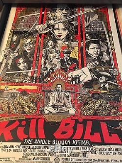 Tyler Stout Kill Bill Whole Bloody Affair signed Mondo Print Poster Tarantino