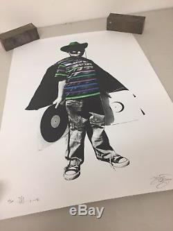 Very Rare Paul Insect Screen Print The Kid also signed by DJ Shadow