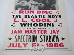 Vintage 1986 All Rap Spectacular Concert Event Poster Beastie Boys Run DMC Rare