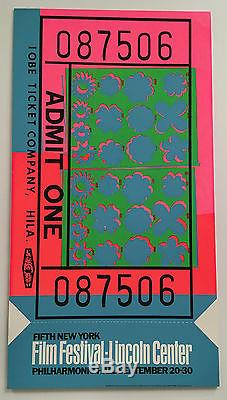 Vintage Andy Warhol 1967 New York Film Festival Lincoln Center ...