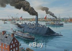 Virginia's Debut Tom Freeman Civil War Naval Art Ironclad CSS Virginia 1862