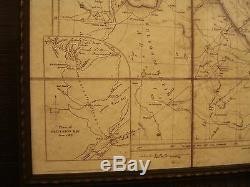 1841 République Du Texas Carte Encadrée John Arrowsmith