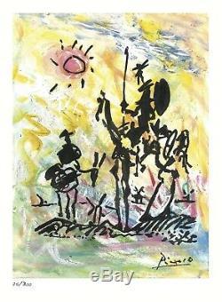 2 Don Quichotte Signé / Numéroté Ltd Ed Picasso & Prints Salvador Dali (sans Cadre)