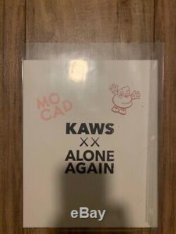 2019 Kaws Mocad Detroit Museum Sérigraphie Rare Ap Original Signé Blame Jeu