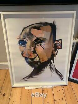 Adam Neate Blanc, Autoportrait 2007, Édition Imprimée Signée 50, Gratuit Banksy Pic
